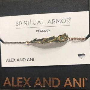 NWT Alex And Ani Spiritual Armor Peacock